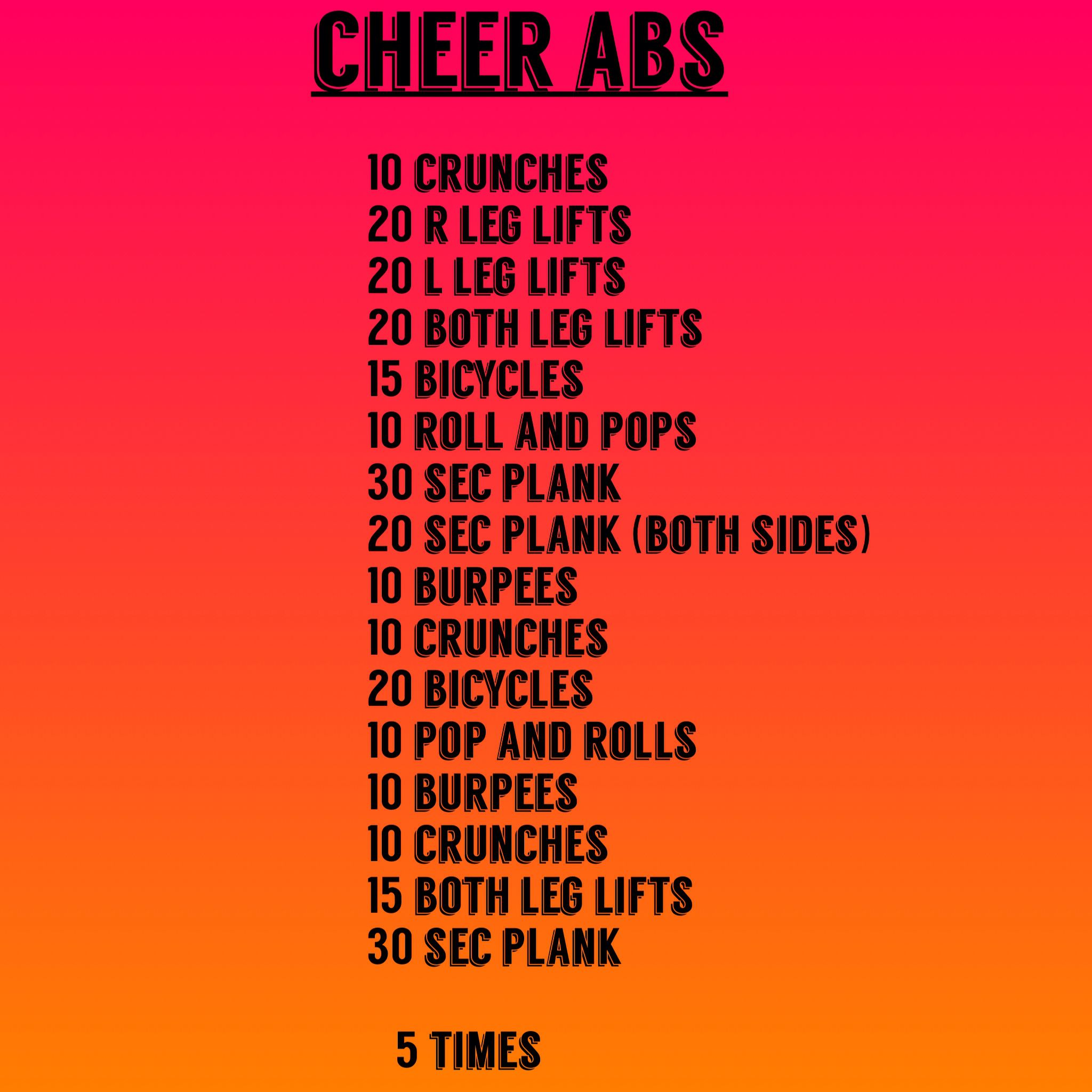 Cheer abs workout #cheerworkouts