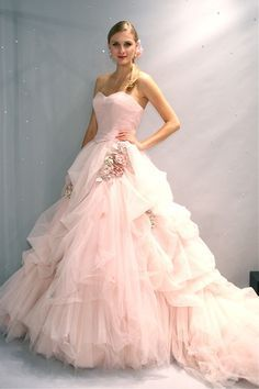blush ball gown with sleeves - Google Search
