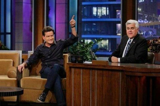 Charlie Sheen Talks Lindsay Lohan To Jay Leno