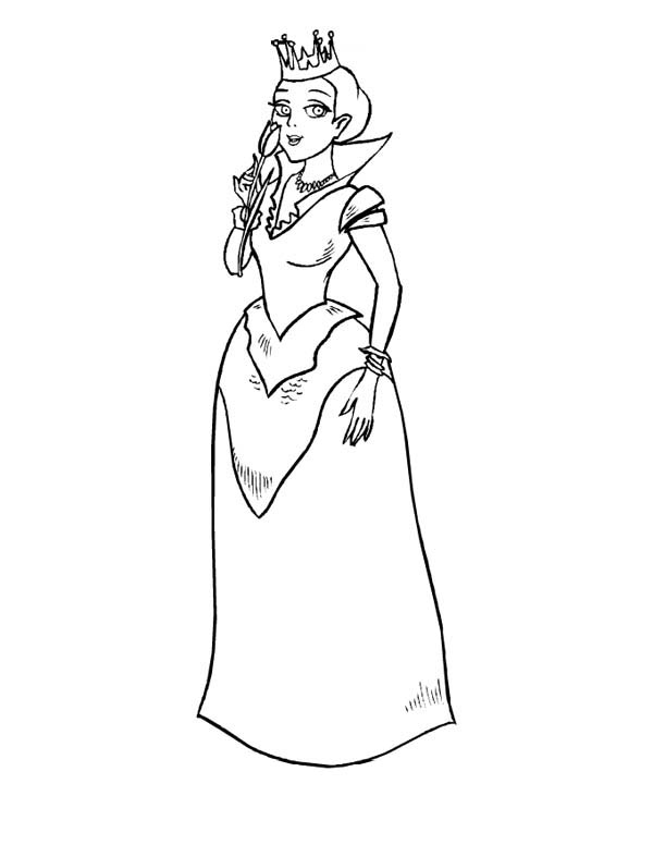 Beautiful Princess In Middle Ages Coloring Page Color Luna Coloring Pages Middle Ages Color