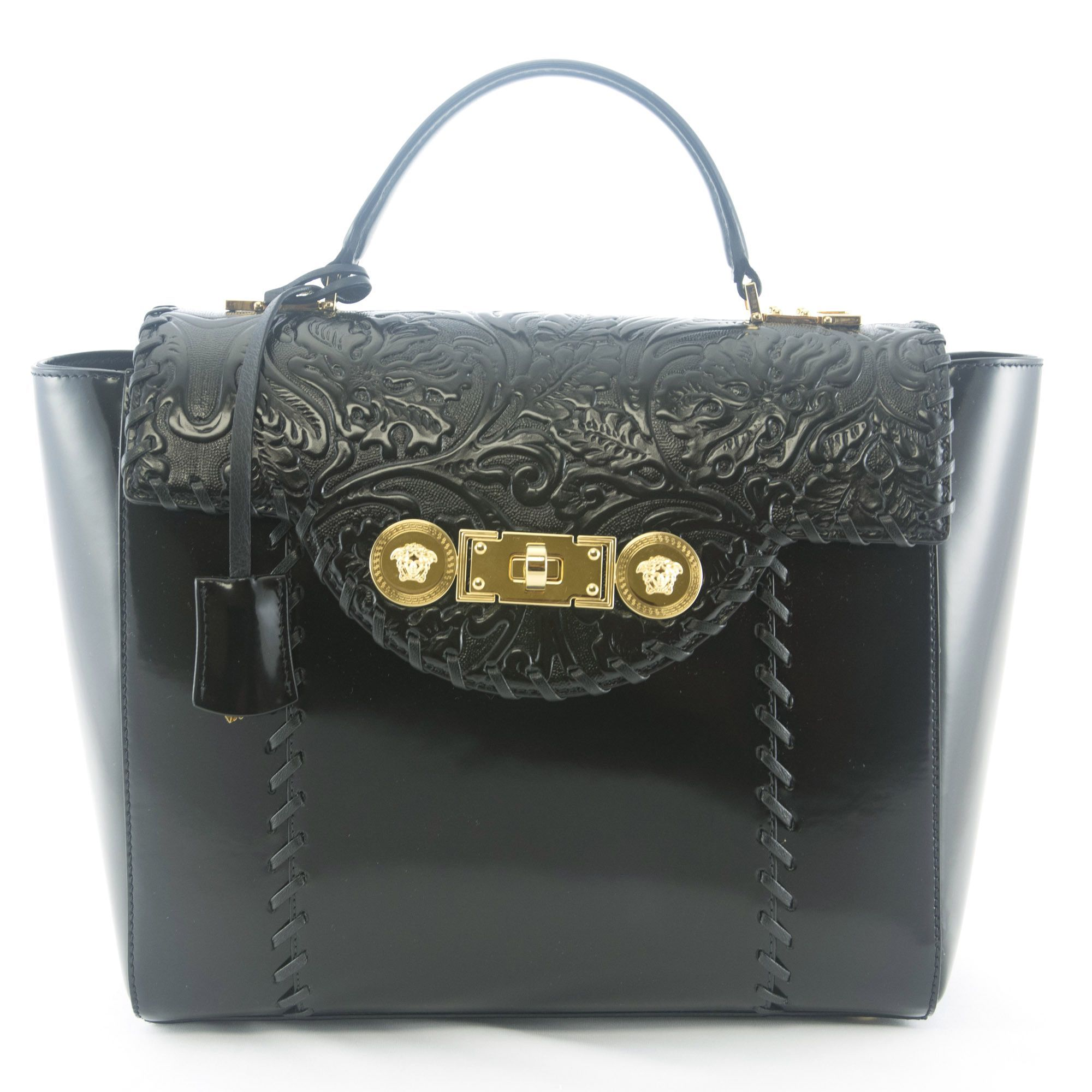 Versace Signature Lock Handbag