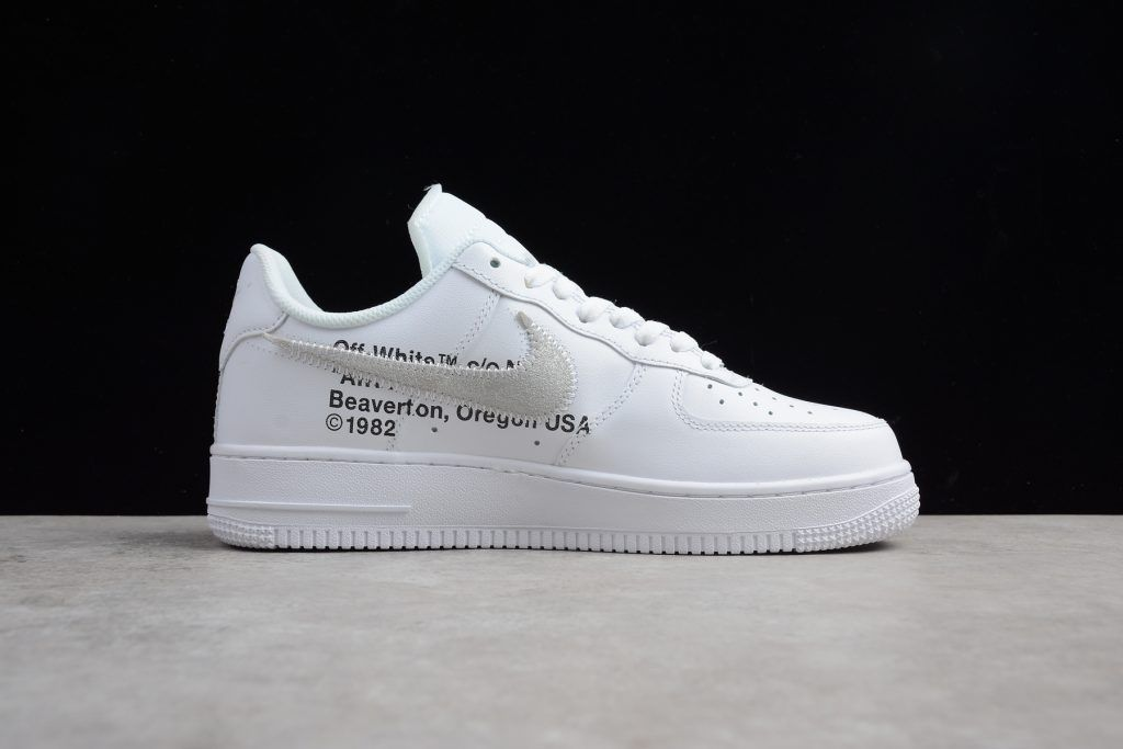 off white Nike Air Force 1 Low Men AF1 Shoes White Black