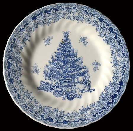Queens China Seasons Greetings Blue Salad Plate Fine China Dinnerware Blue H Blue And White Dinnerware Blue Dinnerware Fine China Dinnerware Blue and white salad plates
