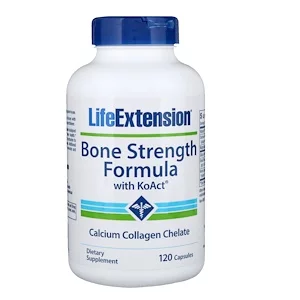 Life Extension Bone Strength Collagen Formula 120 Capsules 건강한 비타민 뼈