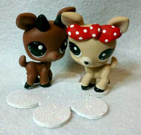 Rudolph And Clarice Littlest Pet Shop Holly Jolly