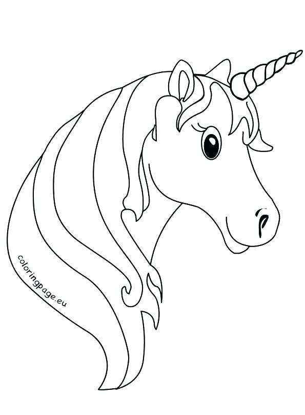 Unicorn Coloring Pages For Kindergarten Pictures
