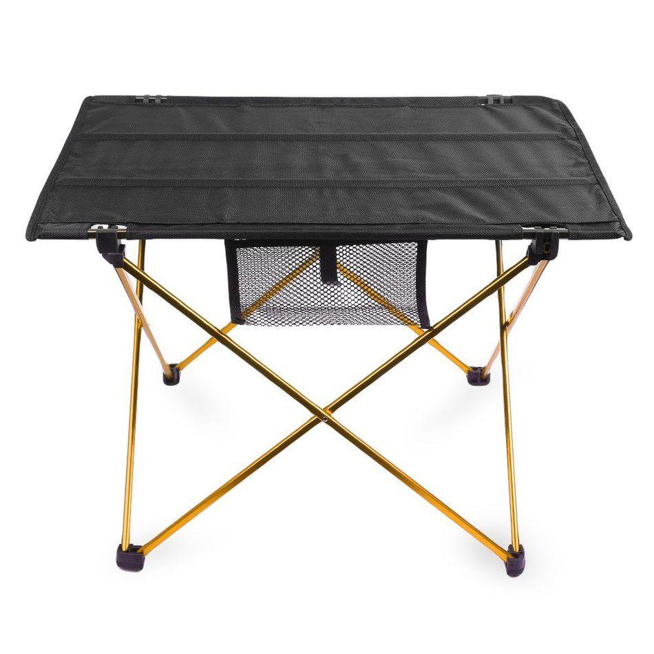 Portable Camping Table Outdoor Golden Aluminium Alloy Foldable Folding Picnic  Table Ultralight Mesa Plegable For Hiking