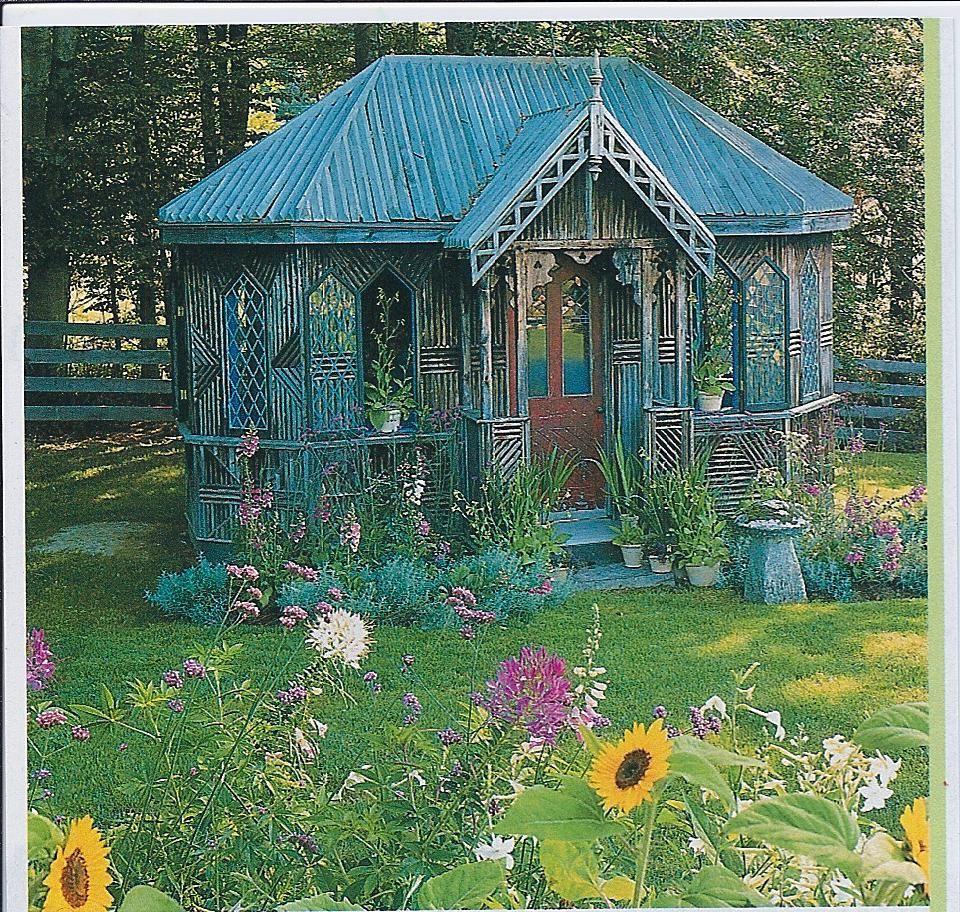 Twig art garden room dream fairies houses casas de for Cobertizo de madera de jardin contemporaneo