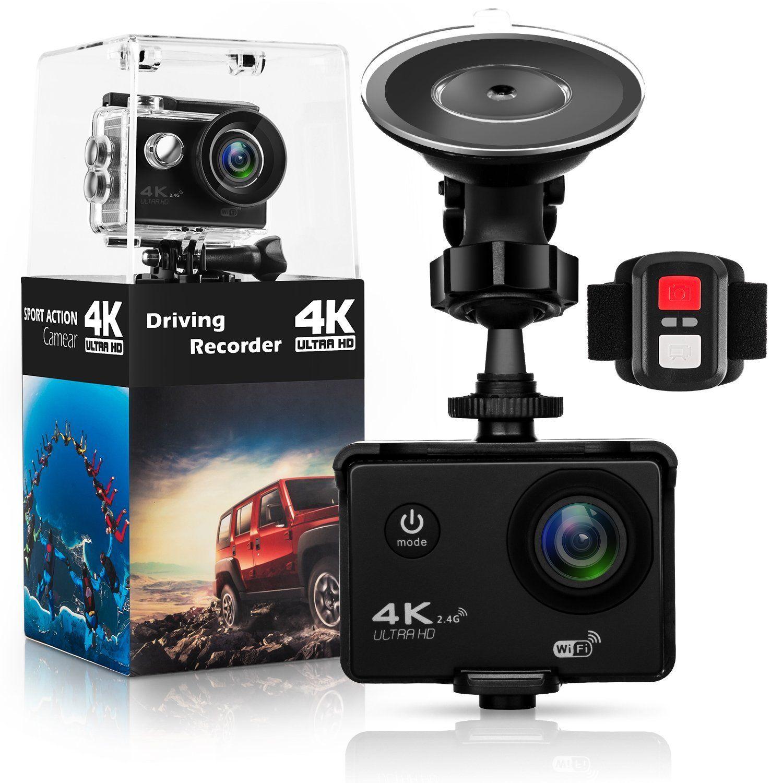 Action Camera,Dash Cam,Amuoc 4K 16MP Ultra HD 170°Wide