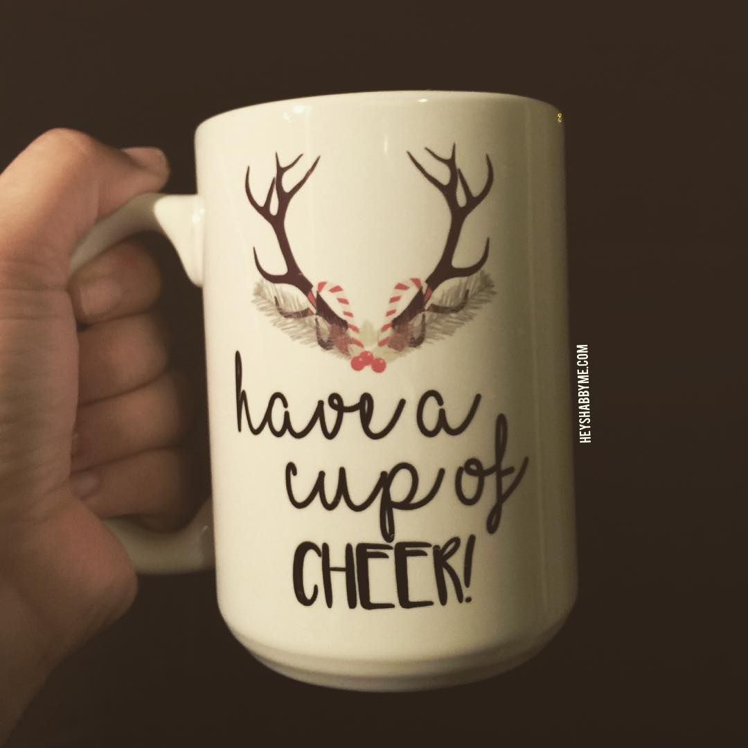 Have a cup of cheer! The best time of the year is almost here. Don't forget our ((🎄Holiday Sale🎄)) ➡️Buy two mugs and get third mug free with code hollyjolly at checkout. 🎄☕️ 👆🏻👆🏻Shop now heyshabbyme.com📍  #haveahollyjollychristmas #shoppingforchristmas #coffeetime #instagood #christmastree #letscelebrate #santaiscoming #christmascoffee #sunday #happysunday #pinkxmas #movember #xmas #pinkmas #thanksgiving #itsthebesttimeoftheyear #haveacupofcheer #deer #mommyblogger #christmas #itsbeginn