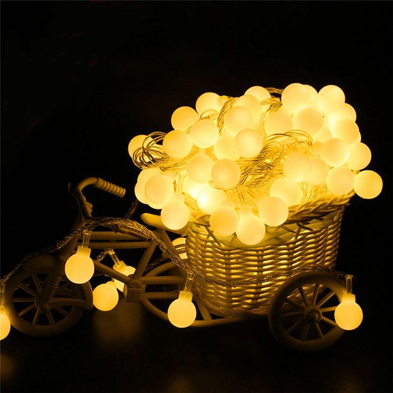 Decorative Light Balls 2M4M10M 80Led Cherry Balls Fairy String Decorative Lights