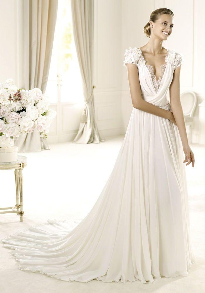 Elie By Elie Saab / V-Neck A-Line Wedding Dress,Bridal Gown - Hong ...