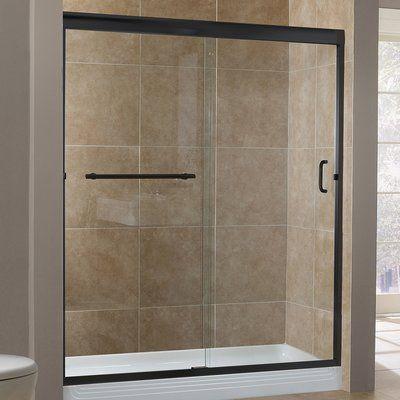 Hazelwood Home Marina 48 X 76 Single Sliding Framless Shower