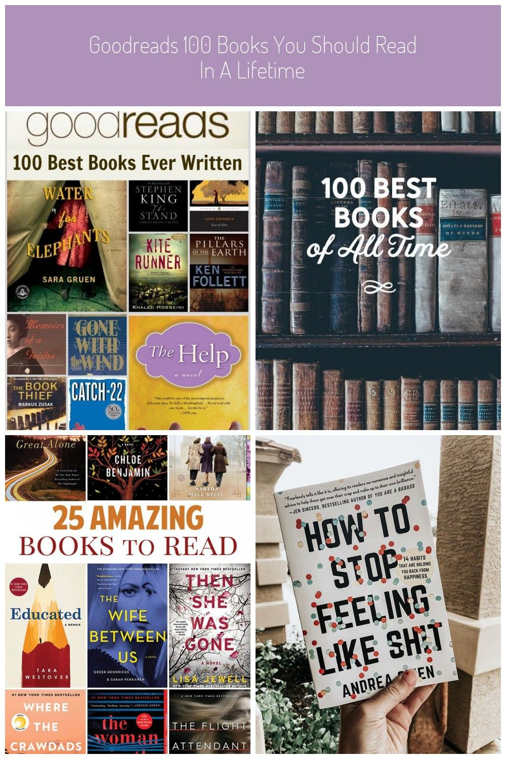 Goodreads 100 Books You Should Read In A Lifetime 100 Book
