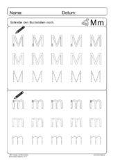 Abc Anlaute Und Buchstaben Mm Schreibenpdf Clase Alphabet