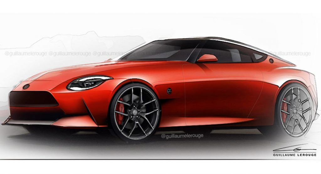 The 2021 Nissan 400z Should Look Just Like This Carscoops In 2020 Nissan New Toyota Supra New Sports Cars