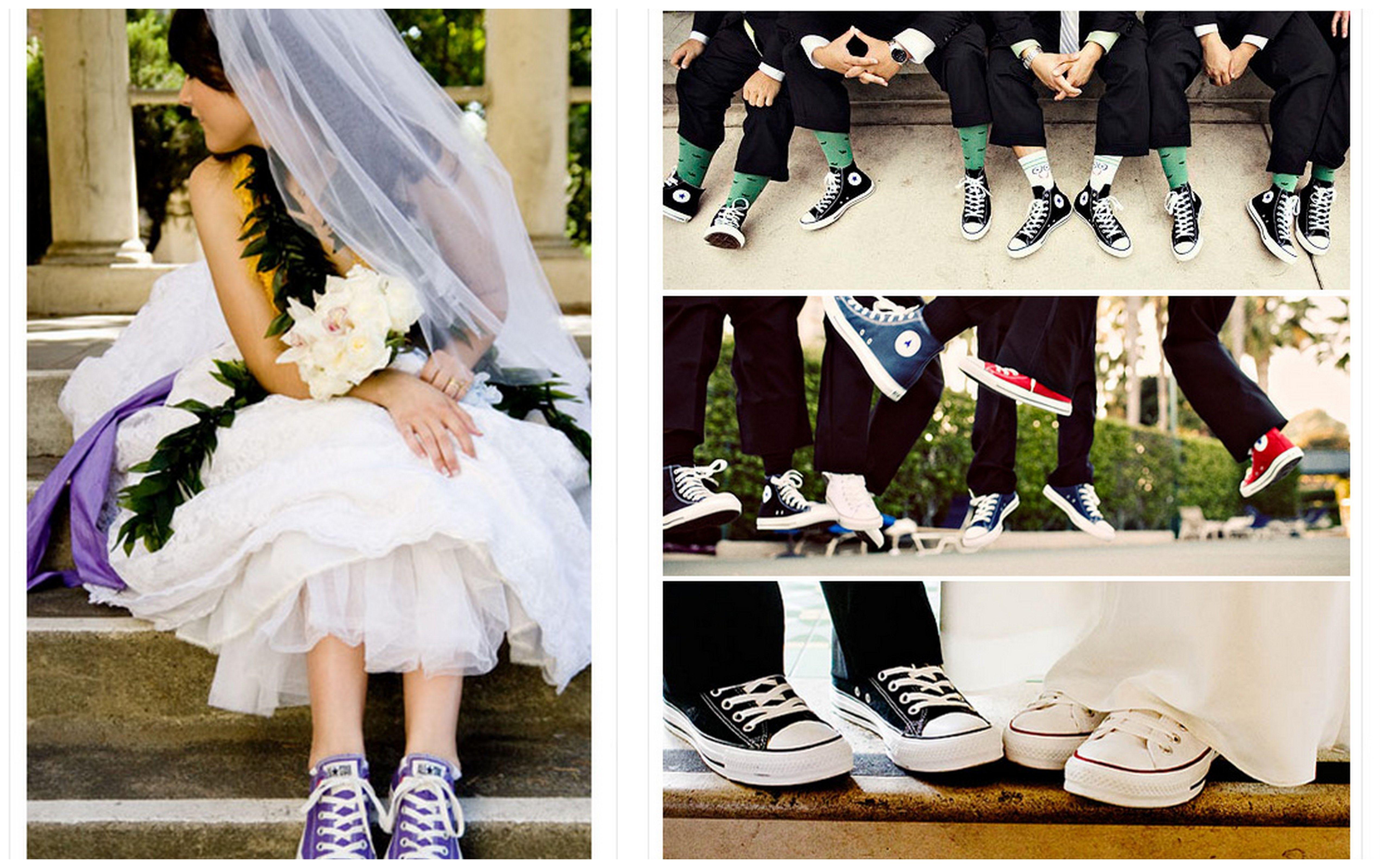 White bridesmaid dresses with converse dp photo biz gardens of paradise wedding sneakerswedding converseshoes ombrellifo Images