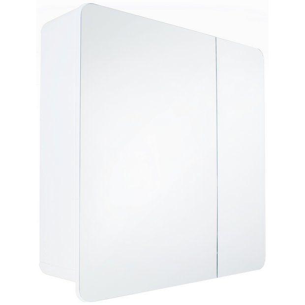 Buy Hygena Curve Double Door Mirrored Bathroom Cabinet White At Argos Co Uk Your Online Shop Fo White Bathroom Cabinets Bathroom Mirror Cabinet Mirror Door
