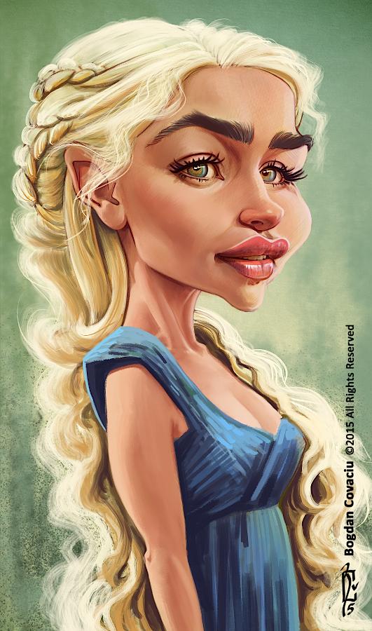 Emilia Clarke as Khaleesi by bogdancovaciu on DeviantArt