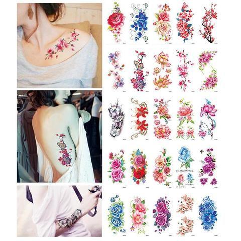 c9b7429fe OnDecal Rose Flash Tattoo. OnDecal Rose Flash Tattoo Flower Henna ...