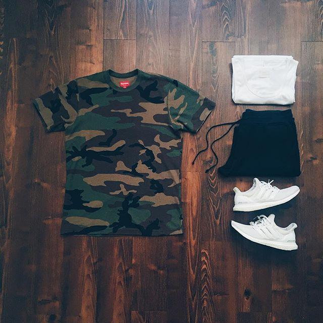 WEBSTA @ raadius - War ready (items tagged)• Supreme Tee• FOG Tank• Raised By Wolves Jogger Sweats• Adidas Ultraboost