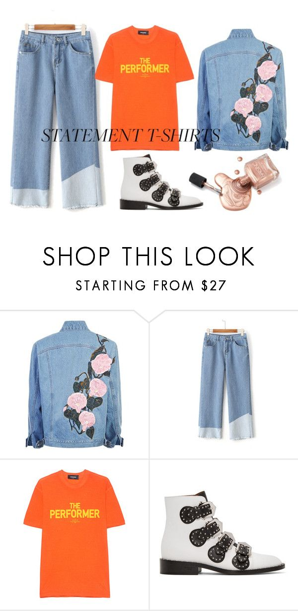 """""""S T A T E M E N T - Ts"""" by flowerxan ❤ liked on Polyvore featuring Dsquared2, Givenchy and statementtshirt"""