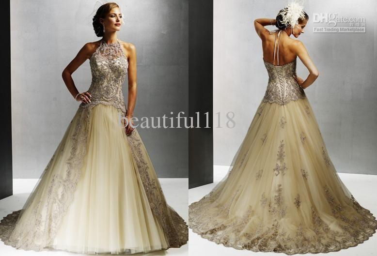 2012 Vintage Lace Winter Wedding Dresses Gown Artia A3111