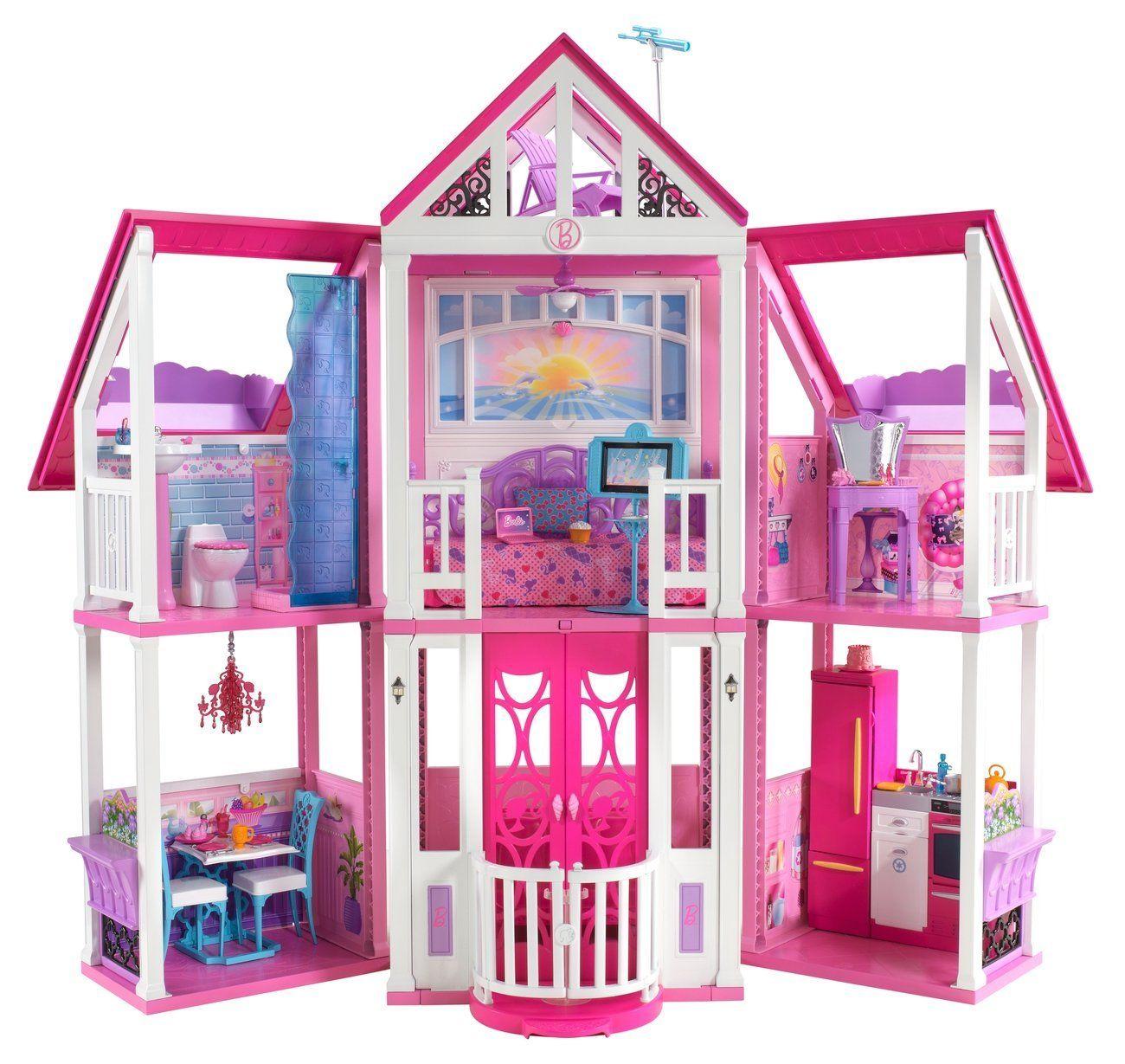 Jouets amazon promo jouet pas cher mattel w3141 maison de poup es barbie ma maison de r ve prix - Barbie maison de reve ...