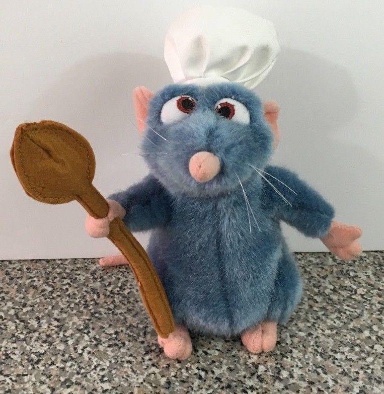 Ratatouille 9 Chef Remy Rat Mouse Plush Stuffed Animal Disney