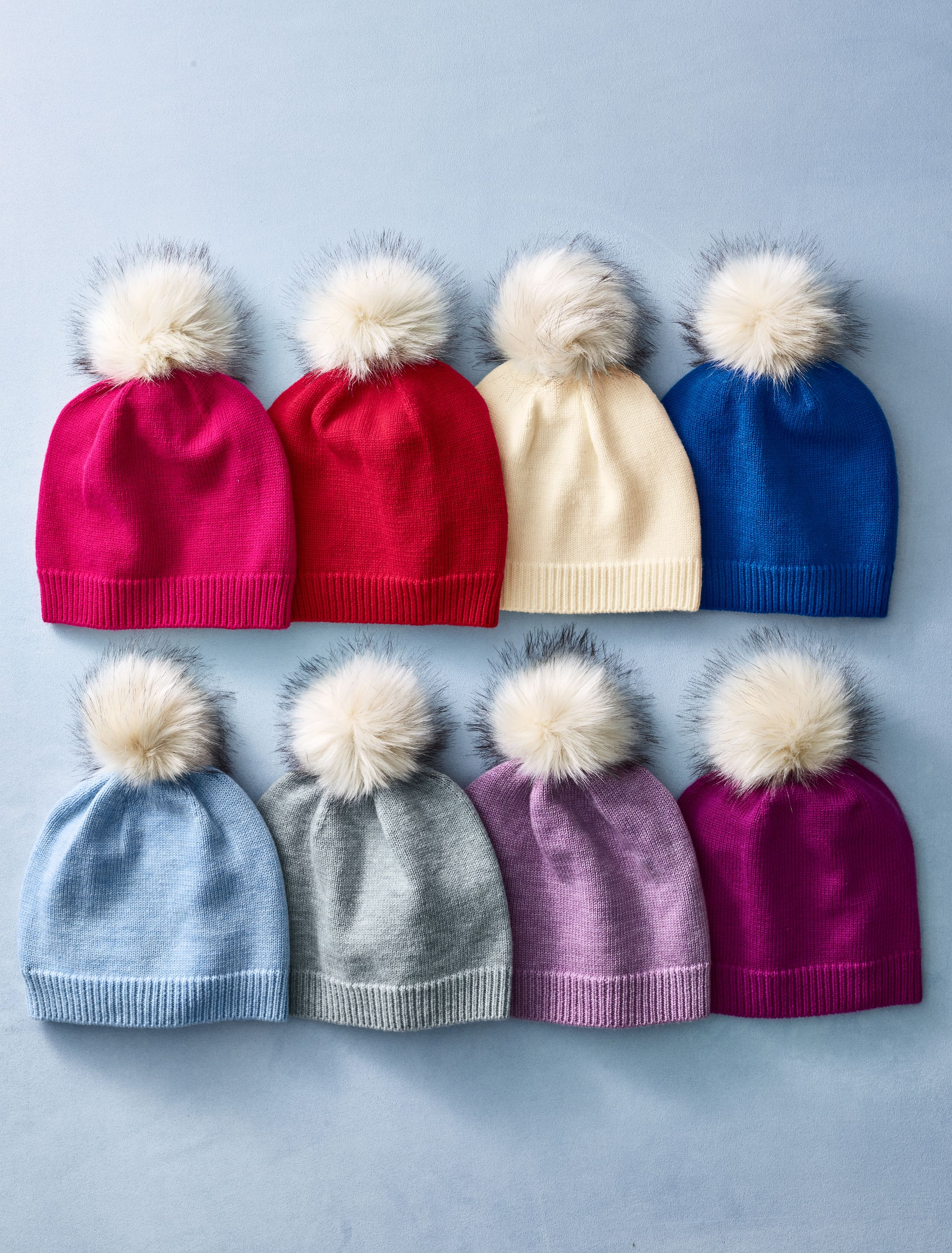 ef0252b2afe3 Part of our mix and match cold-weather collection, this pom-pom hat will  keep your head warm in a playfully-stylish way. Available in prismatic hues  with ...