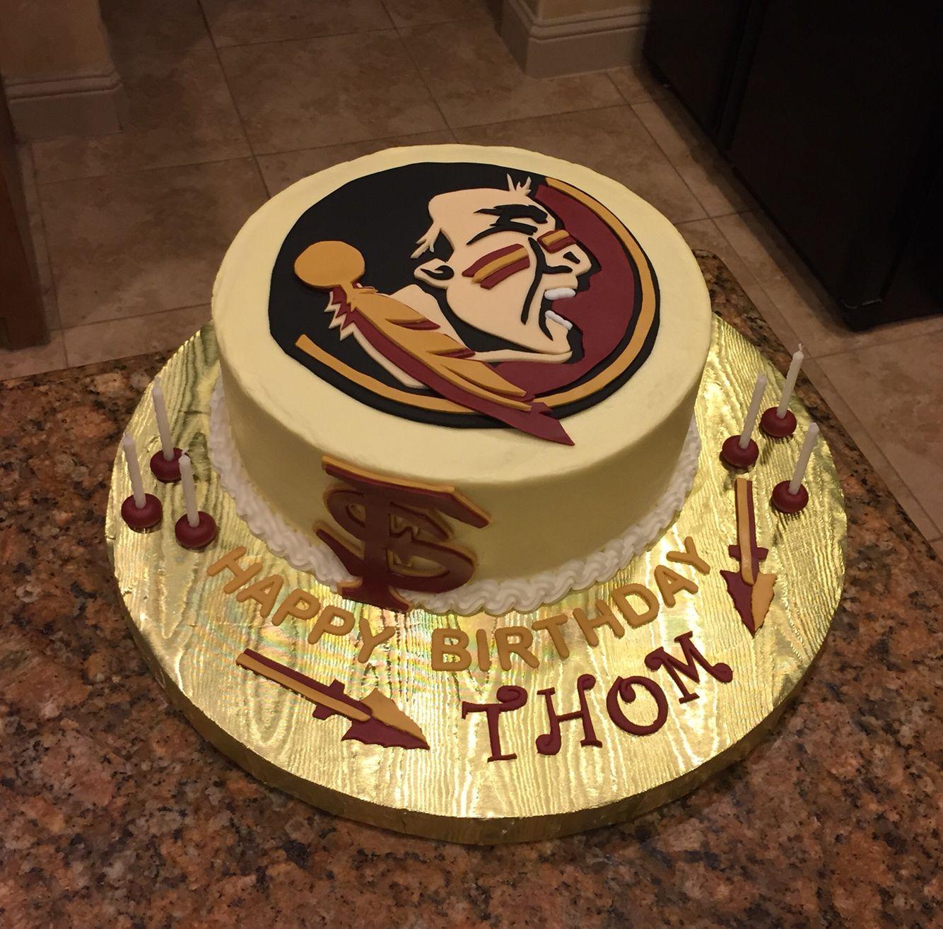 Florida State University Cake Go Seminoles Cake Design