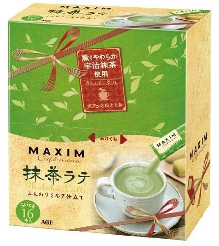 AGF マキシム スティックメニュー 抹茶ラテ 16本:Amazon.co.jp:食品、飲料、スイーツ、お酒、ギフト