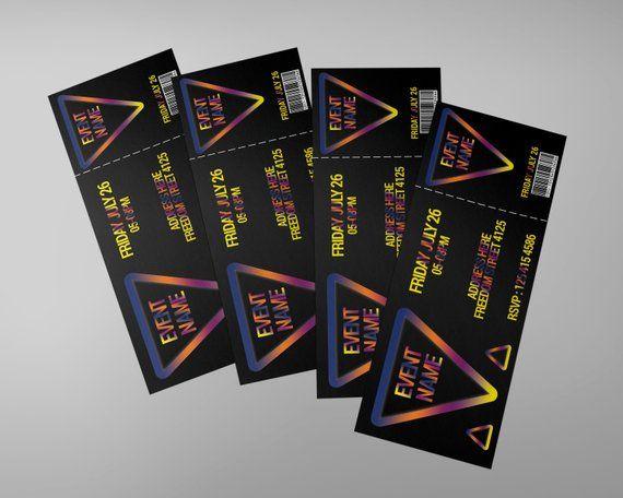 Dance Tickets design, invitation ticket, concert ticket, CMYK 300