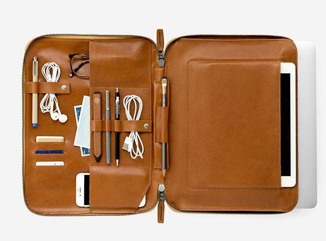 Estuche Para Laptop Mod 2 De This Is Ground Bolsos De Cuero Hombre Diseños De Carteras De Cuero Estuches Para Tablet