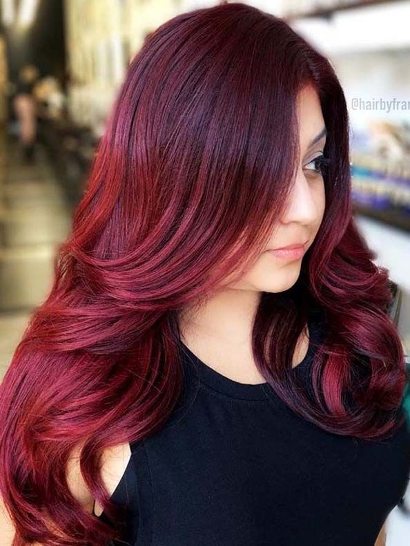 Red Hair Color Trends And Styles 2019 Burgundy Hair Hair Styles Hair Color Burgundy