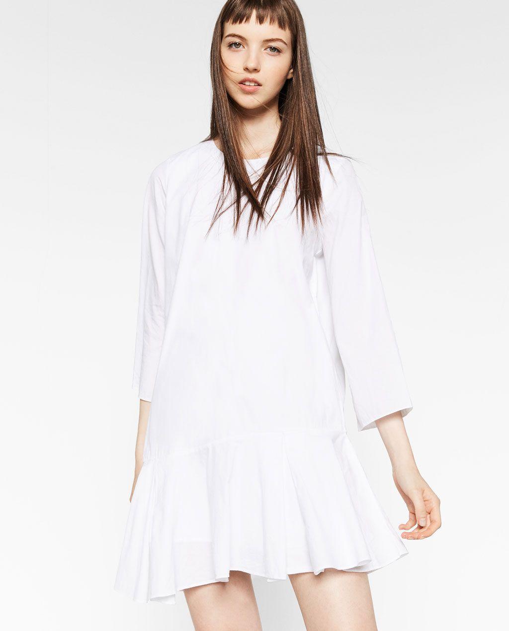 zara kleid rot weiß in 2020 | kleider, damen kleider