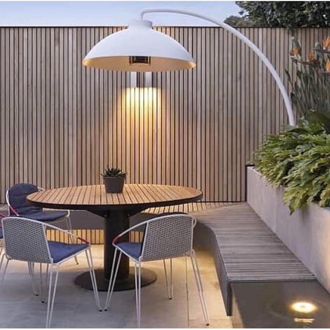 Heat & light Heatsail Dome electric outdoor heater & light