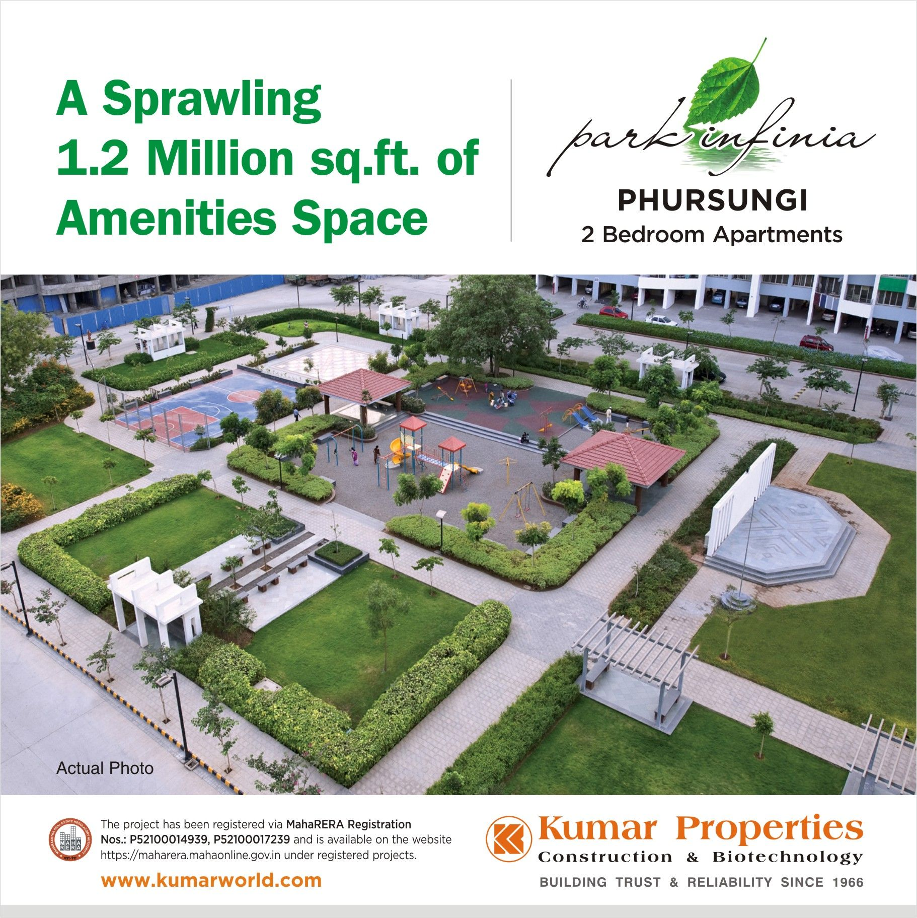 A Sprawling 1 2 Million sq ft  of #Amenities Space at Park Infinia