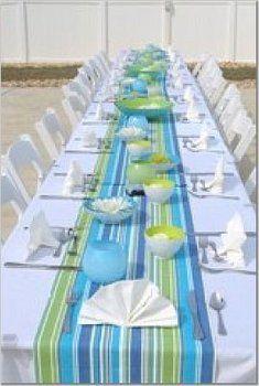 Wedding, Reception, Green, Blue, Beach, Aqua