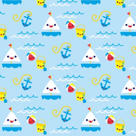 Let's go Sailing fabric by boredinc on Spoonflower - custom fabric