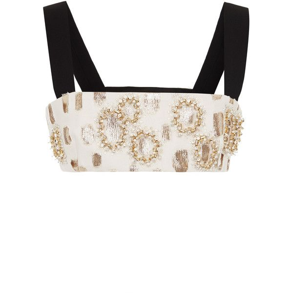 Fausto Puglisi Embellished Bra Top (9,625 CAD) ❤ liked on Polyvore featuring fausto puglisi
