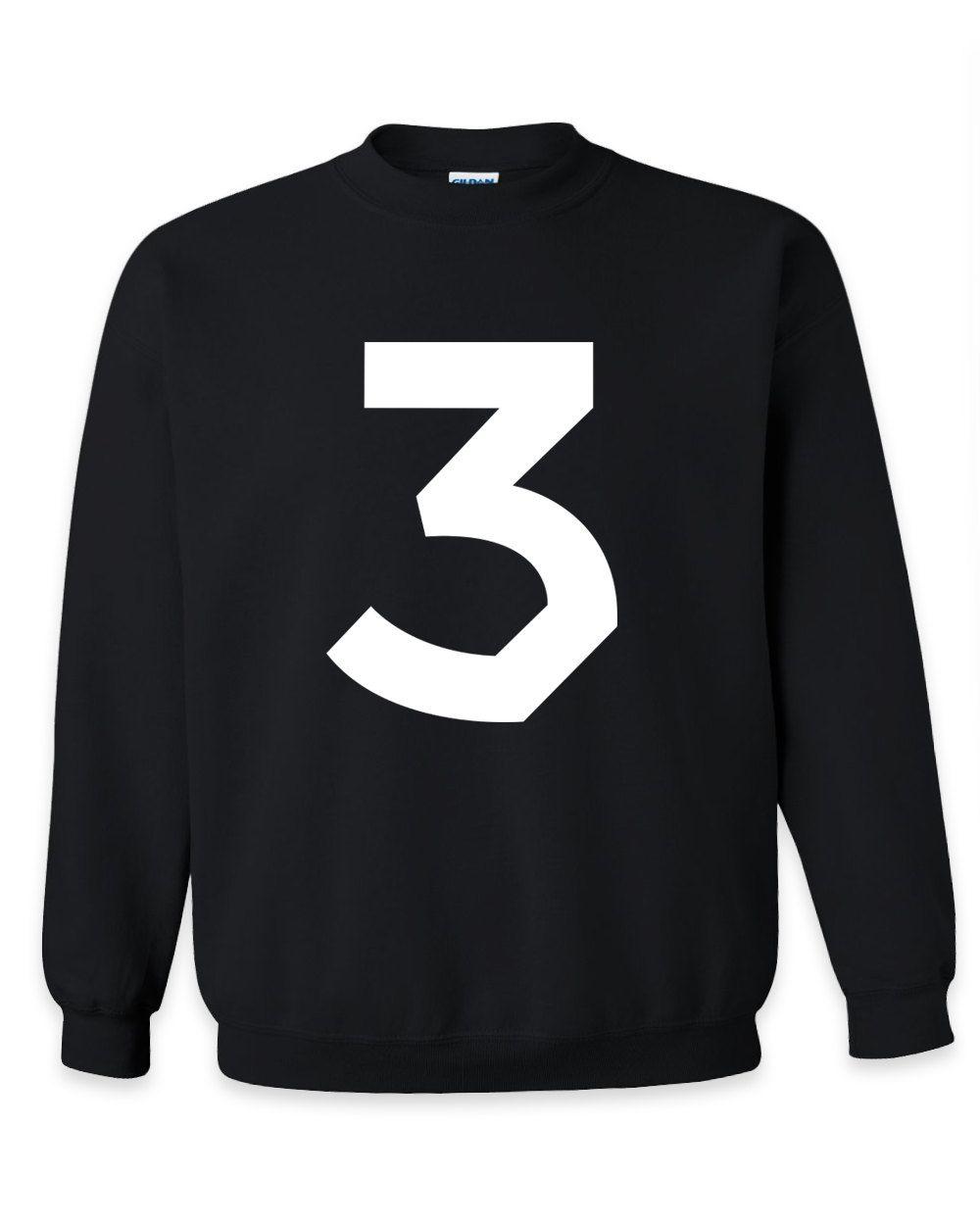 d1044b6fc3f Chance The Rapper Shirt Merch Crewneck Shirt Sweatshirt Crewneck - Three  Shirt - Acid Rap Shirt - Hip Hop - Rap - Chance The Rapper Merch by ...