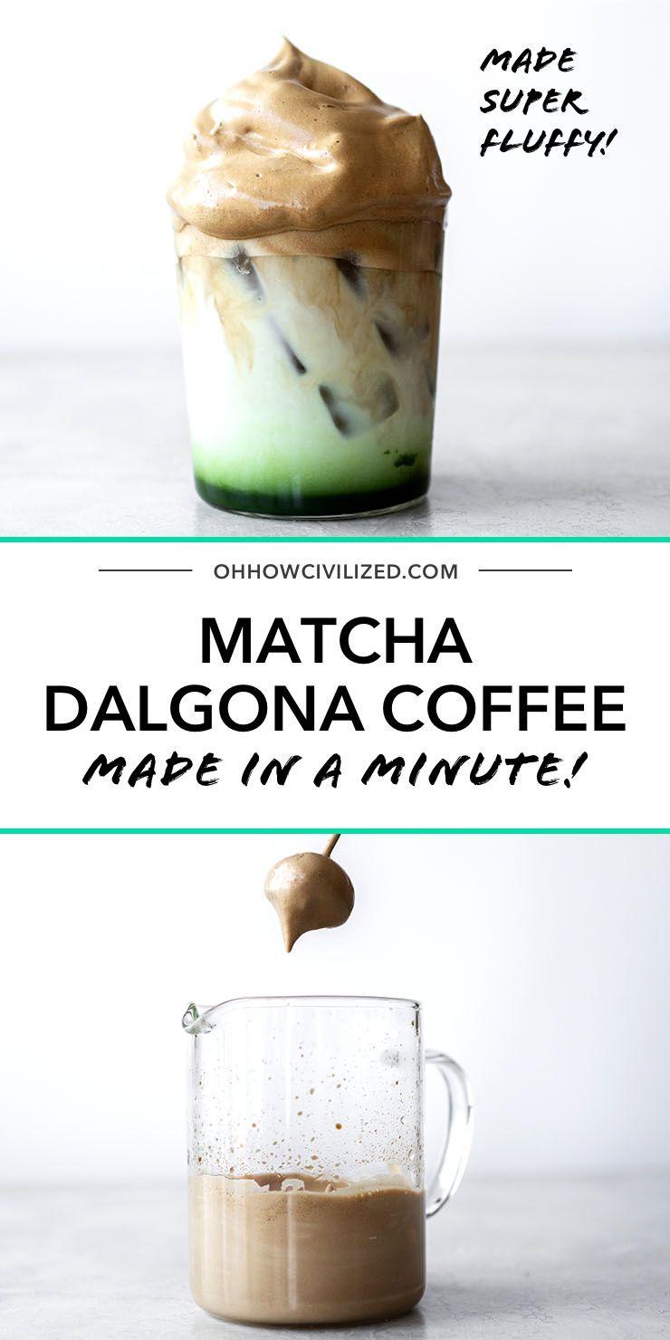 Matcha Dalgona Coffee in 2020 Matcha coffee recipe
