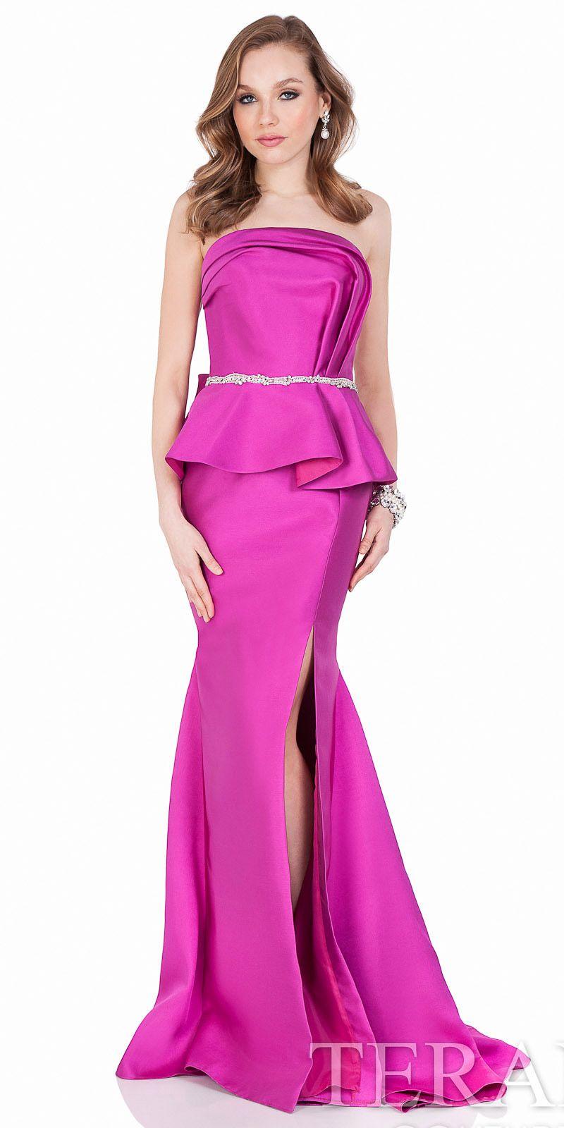 Strapless Draped Peplum Gown by Terani Couture #edressme | TERANI ...