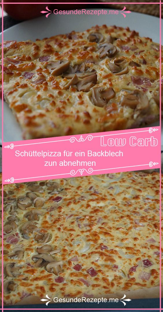 Schüttelpizza für ein Backblech zun abnehmen