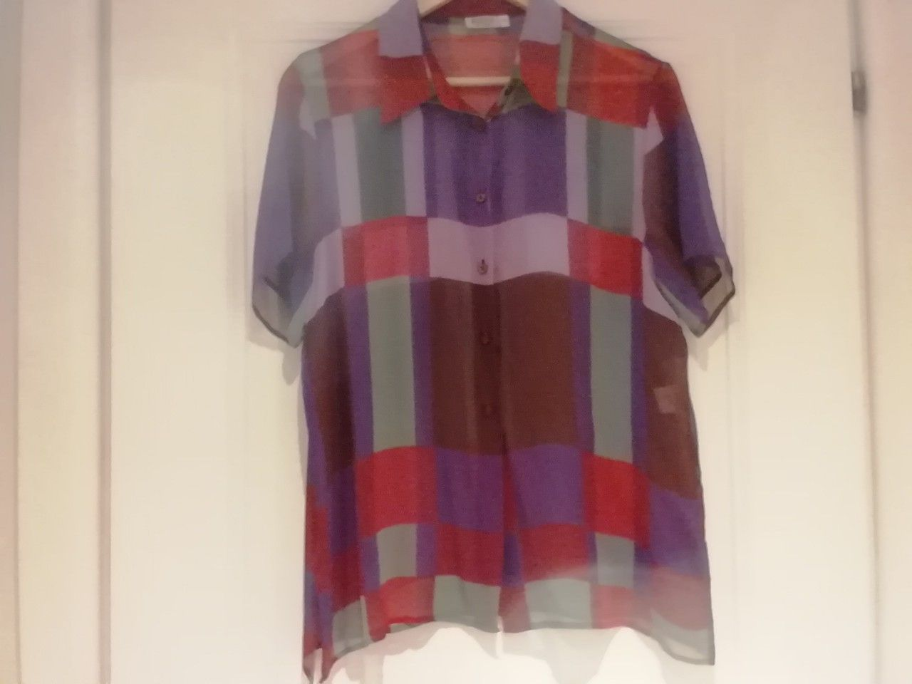 sito affidabile 6e1be b113e Camicia in chiffon di seta a quadri MARELLA | Camicia, Chiffon