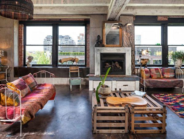 Schone Einrichungsideen Naturmaterialien Wohnzimmer Interieur
