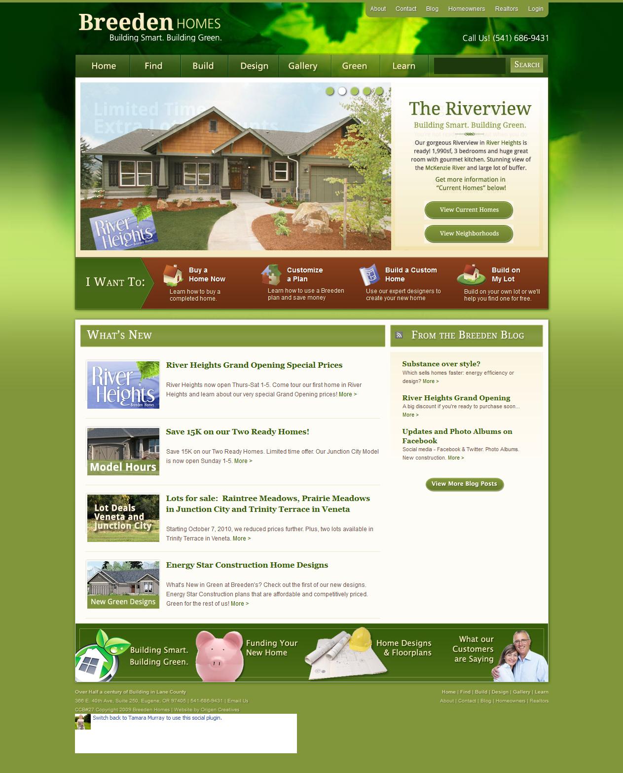 Breeden Homes Websitedesign Webdesign Layout Website Design Custom I Custom Homes