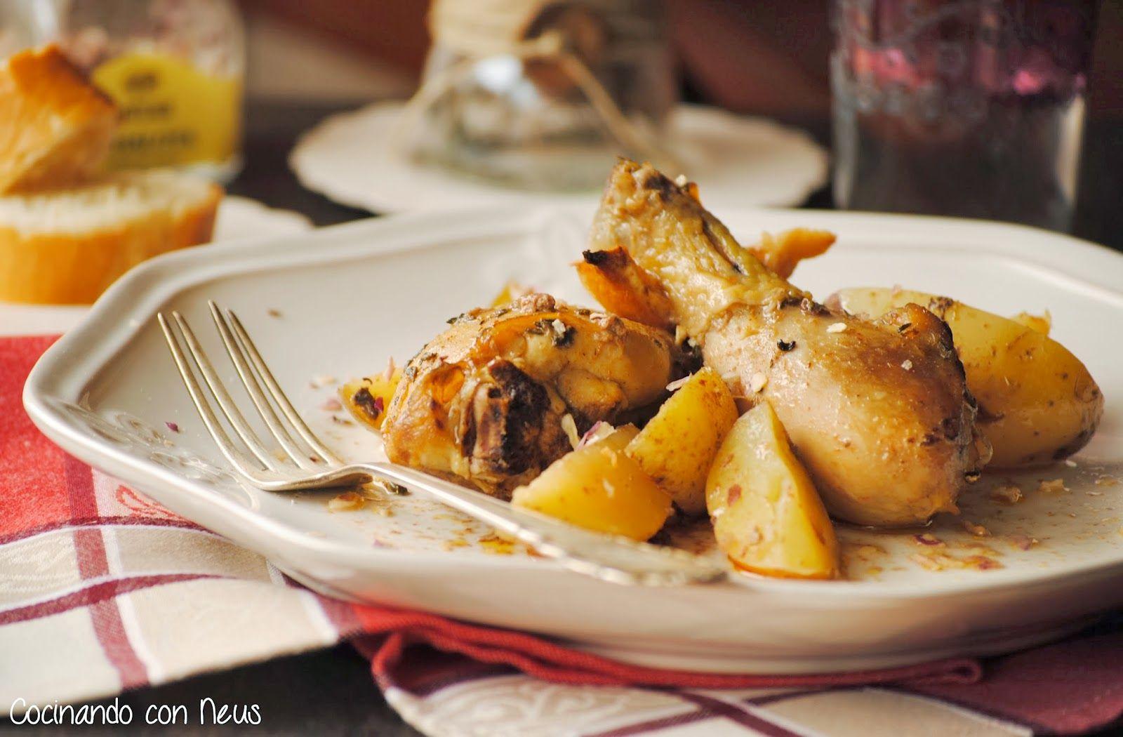 Pollo macerado con pimentón de la Vera al horno