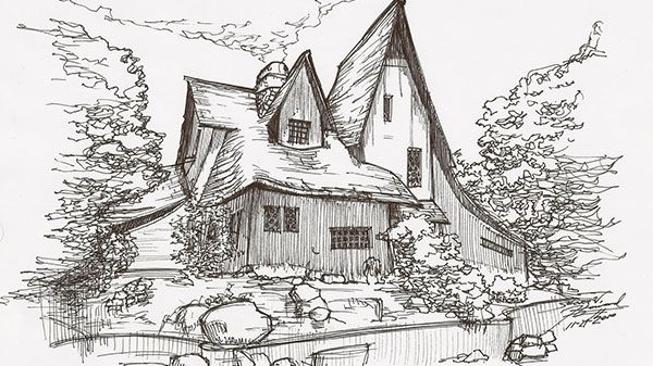 Luxury Architecture Sketch Wallpaper Architecture Houses Sketch 15311 Hd  Wallpapers